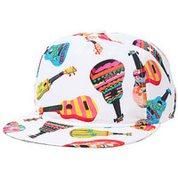 Vans Hat Casual Friday Snapback Ukuleles in White