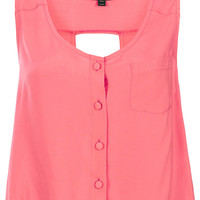 Sleeveless Cut-out Back Suntop - Tops - Clothing - Topshop
