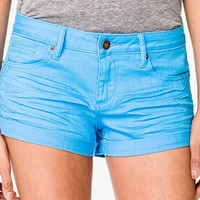 Perma-Creased Cuffed Denim Shorts | FOREVER 21 - 2035461643