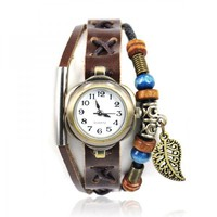 accessoryinlove  Handmade Leather Watch with Pendant