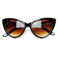 Tip Pointed Cat Eye Sunglasses