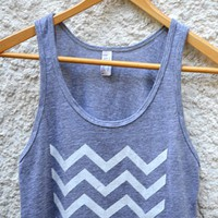 White Chevron on Light Gray