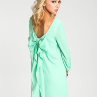 Mint Bow Tie Shift Dress