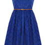 Oasis Sing the Blues | Rich Blue Broderie Bandeau Dress | Womens Fashion Clothing | Oasis Stores UK