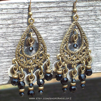 Gypsy Women - Crystal Chandelier Earrings