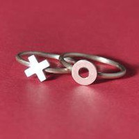 X O Kiss and Hug Rings by mxmjewelry on Etsy