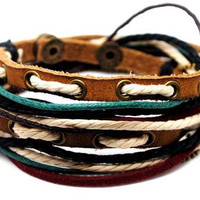 Leather Bracelet Wristband cuff bracelet by Leatherbracelet11