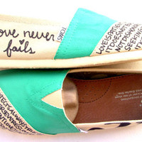The Iris - Teal and Cream Custom TOMS