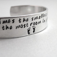 Mothers Day Winnie the Pooh bracelet - The Smallest Things - Aluminum cuff