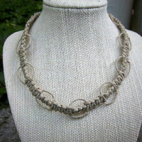 Natural Looped Knot Hemp Choker Necklace