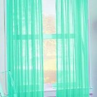 S. Lichtenberg 59 by 84-Inch Calypso Curtain Panel, Sky Blue: Home & Kitchen