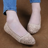 topfashion — Lace Crochet Flat Espadrilles Shoes