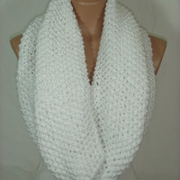 White Cowl Scarf  by Arzu&#x27;s Style