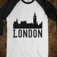 London-Unisex White/Black T-Shirt