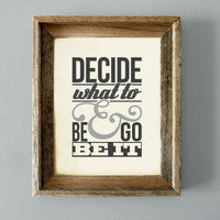 The Avett Brothers Lyrics - &quot;Decide What To Be &amp; Go Be It&quot; - 11x14 Head Full of Doubt/Road Full of Promise Song Lyrics Print
