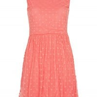 Coral Spot Detail Dress | Dresses | Desire