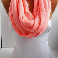 Hotpink Soft Pashmina Loop infinity  Scarf by DIDUCI on Etsy