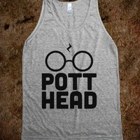 Pott Head Tank - Nerd Shirts - Skreened T-shirts, Organic Shirts, Hoodies, Kids Tees, Baby One-Pieces and Tote Bags