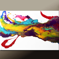 Abstract Art Painting 36x24 Canvas Original Contemporary Modern Art Paintings by Destiny Womack - dWo - Wave of Euphoria