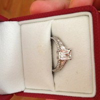 Have You Seen the Ring?: Platinum Set Criss Cut Diamond