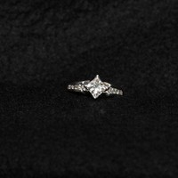 Have You Seen the Ring?: 1.60ct Princess Cut Diamond Engagement Ring