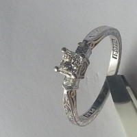 Have You Seen the Ring?: Platinum Tacoris 3 stone engagement ring