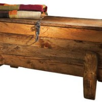 Rustic Blanket Chest: Southwest Furniture, Santa Fe Style: Southwest Spanish Craftsmen