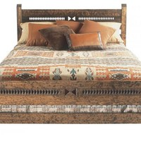 Priest Queen Bedframe: Southwest Furniture, Santa Fe Style: Southwest Spanish Craftsmen
