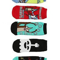 Regular Show Characters No-Show Socks 5 Pair - 300329