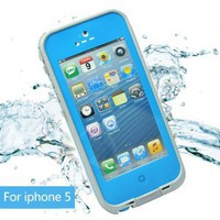 Amazon.com: Leang Waterproof Shockproof and Dirtproof Case for iPhone 5 Life Dirt Proof Case Blue+ Cleaning Cloth: Cell Phones & Accessories