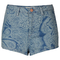 MOTO Laser Paisley Hotpants - Shorts - Clothing - Topshop USA