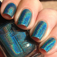 Nail polish  Amazonia dark teal green linear by EmilydeMolly