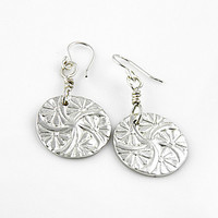 Pinwheel Pure Silver Earrings