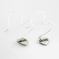 Be Mine Pure Silver Earrings
