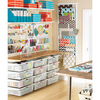 The Container Store > White elfa Deluxe Arts & Crafts Center