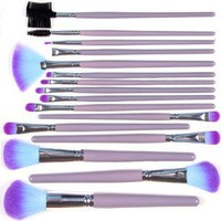 Kingmys 16 Pcs Professional Makeup Cosmetic Brush Set Kit With Pouch Bag Case Purple