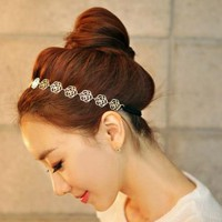 accessoryinlove  Cute Hollow Out Rose Flower Hair Band
