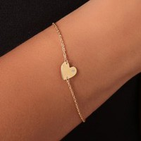 Jennifer Zeuner Jewelry Heart Chain Bracelet with Diamond | SHOPBOP Save 20% with Code WEAREFAMILY13