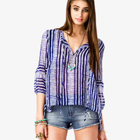 Sheer Shibori Top | FOREVER 21 - 2034625972
