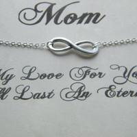 Mothers Day Infinity Necklace, Mothers Day Gift,  Infinity Necklace