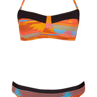 Orange Aztec Bandeau Bikini - Bikini Sets - Swimwear - Topshop