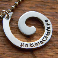 Hakuna Matata swirl necklace
