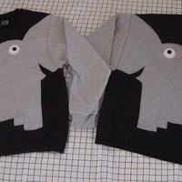 ELEPHANT TRUNK SLEEVE elephants holding trunks in your choice of color and size