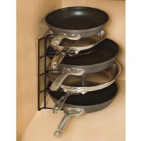 Rubbermaid FG1H4209BLA Pan Organizer Rack, Black: Home & Kitchen