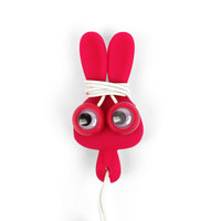 Kikkerland Design Inc   » Products  » Bunny Buddy Ear Buds And Cord Wrap + Pink