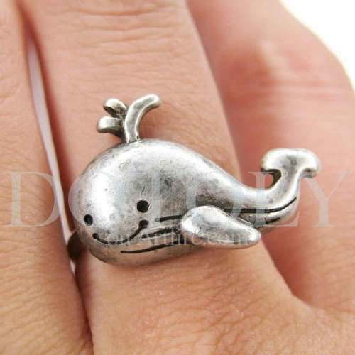 Small Adjustable Whale Ring | dotoly - Jewelry on ArtFire