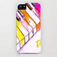 Watercolor Piano Keys iPhone Case by Trinity Bennett