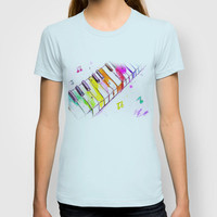 Watercolor Piano Keys T-shirt by Trinity Bennett