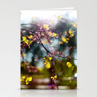 Sun and FLowers Stationery Cards by Trinity Bennett