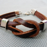 brown 2 leathers and stainless steel leather by sevenvsxiao